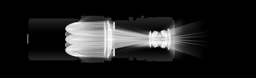 Light propagation in the Visioner