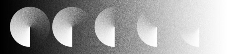 Apparition d'une projection N&B sur un fond plus ou moins illuminé