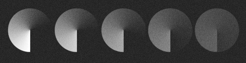 Conséquence de la baisse du contraste d'une image projetée